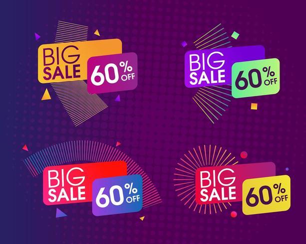 Abstracte verkoop ontwerpset vector