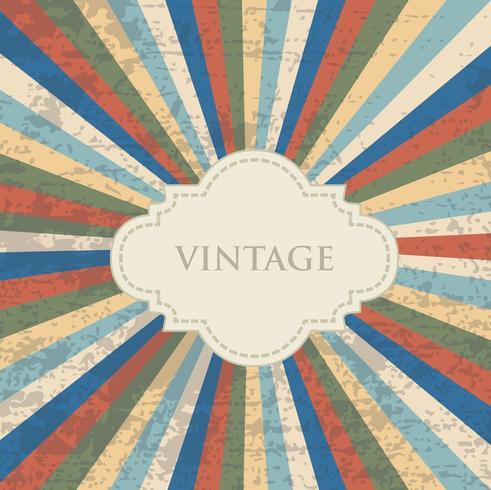 Vintage gekleurde achtergrond met grunge textuur vector