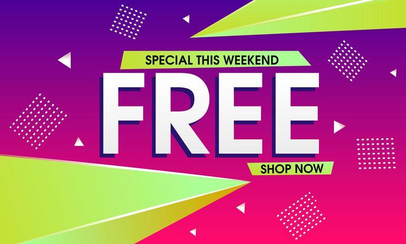 Abstracte speciale weekend verkoop achtergrond vector