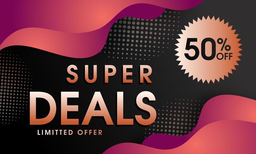 Super deal abstracte banner vector
