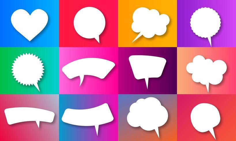 Vector spraak zeepbel collecties