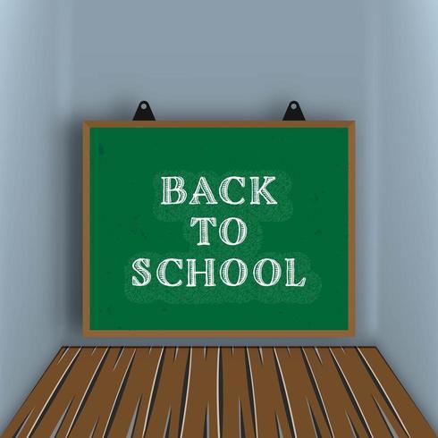Terug naar school schoolbord achtergrond vector