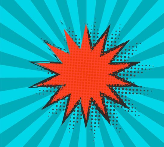 Moderne Retro achtergrond met komische tekstballon vector