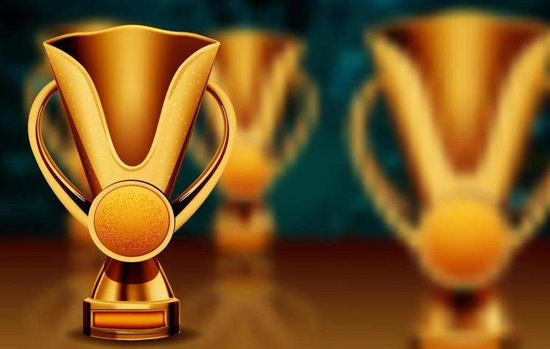 gouden trofee beker vector