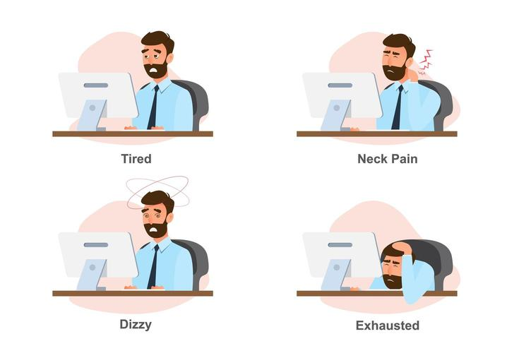 zakenman kwetsen van hard werken vector
