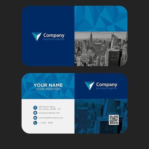 Modern kleurrijk visitekaartje vector