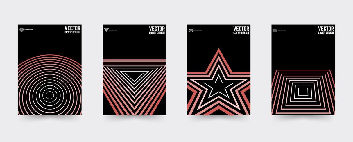 Star Brochure voorbladsjabloon set vector