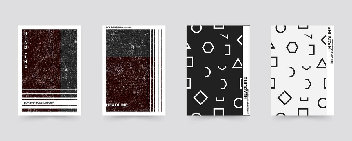 Abstracte brochure cover set vector