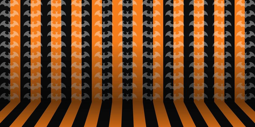 De gestreepte Halloween-achtergrond van het ruimtebehang vector