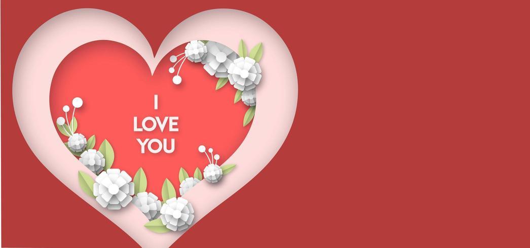 Love Heart Achtergrond vector