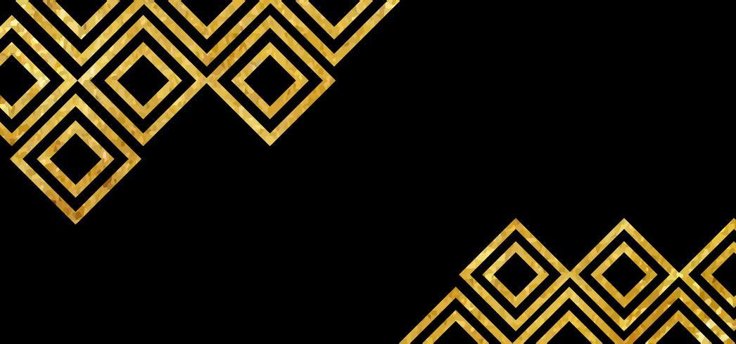 Gouden diamant abstracte achtergrond vector