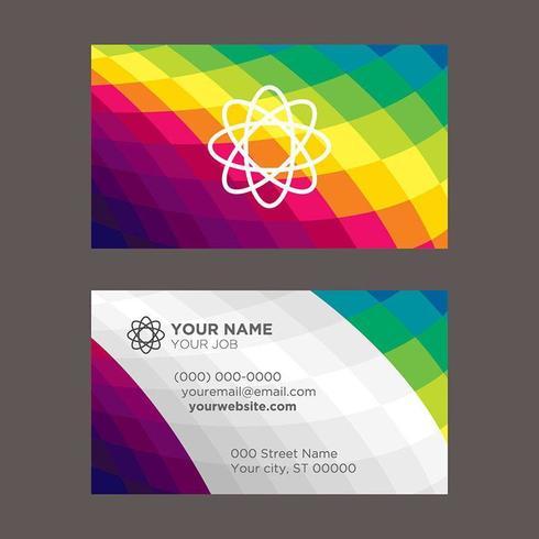 Laag poly moderne kleurrijke visitekaartje vector