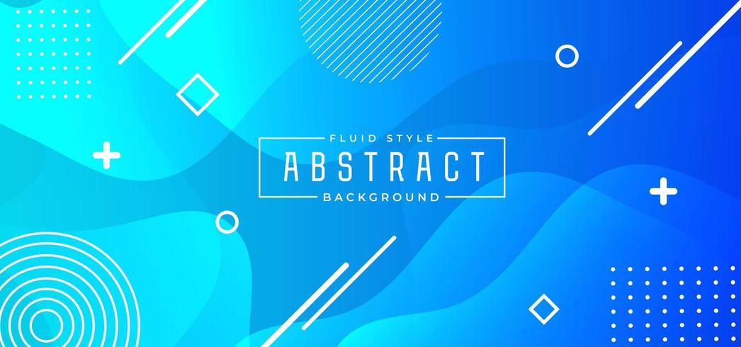 Blauwe abstracte vloeistof banner vector