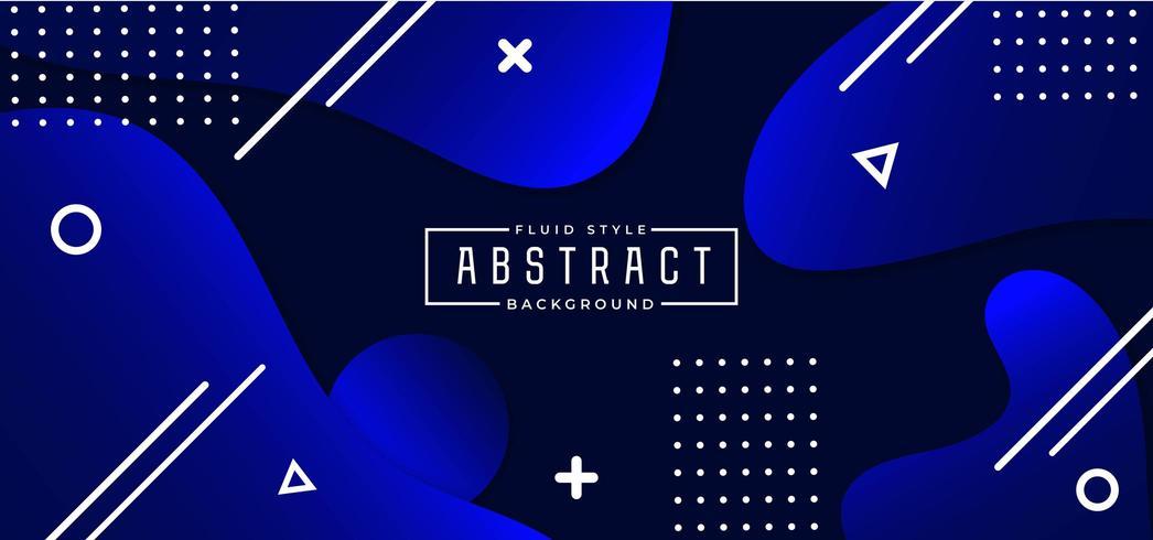 Koningsblauwen vormen abstracte vloeistof achtergrond vector