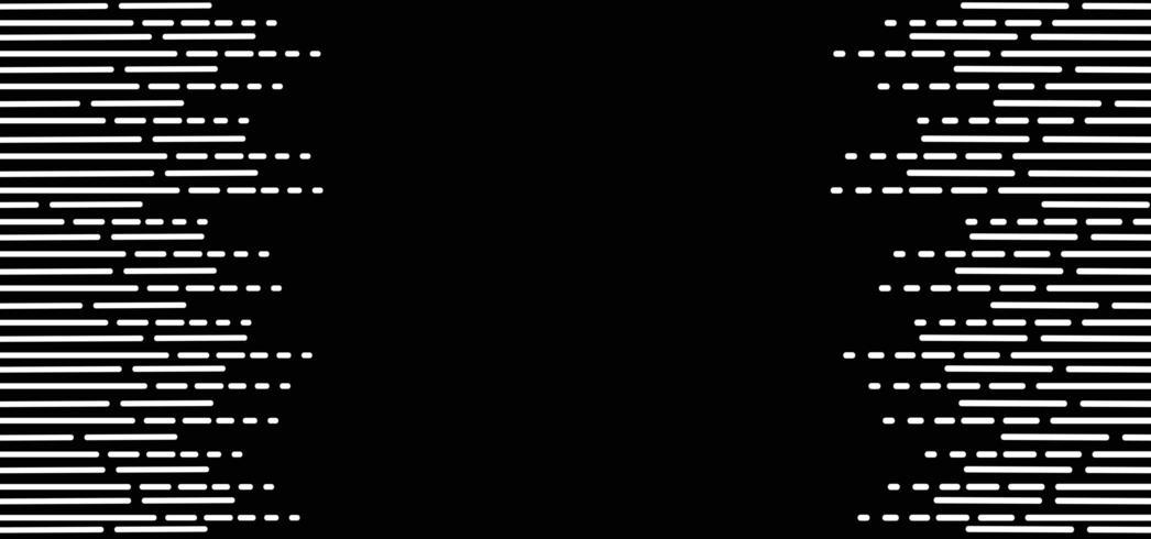 Zwart-witte lijnen abstracte achtergrond vector