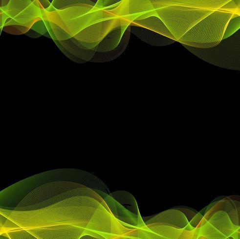 Abstracte groene kleurrijke lijn golf achtergrond vector