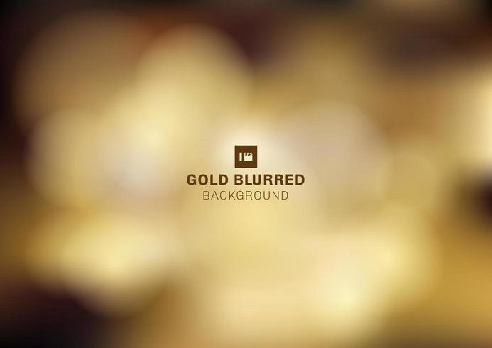 Gouden bokeh wazig donkere achtergrond vector