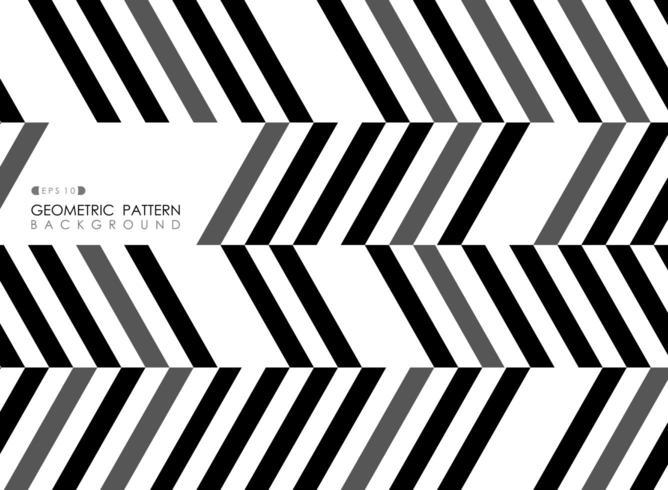 Abstract diagonaal gestreept zwart grijs en wit op kunstpatroon vector