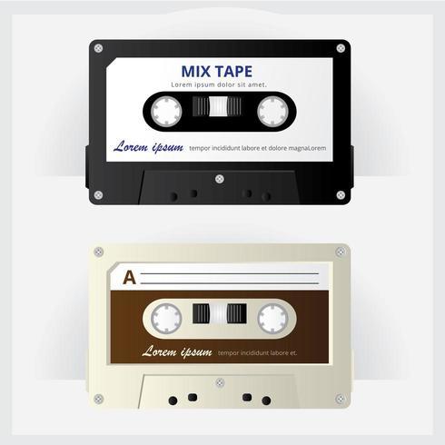 Vintage Cassette Tape Vector Illustratie