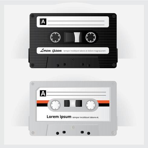 Vintage cassette tape illustratie vector