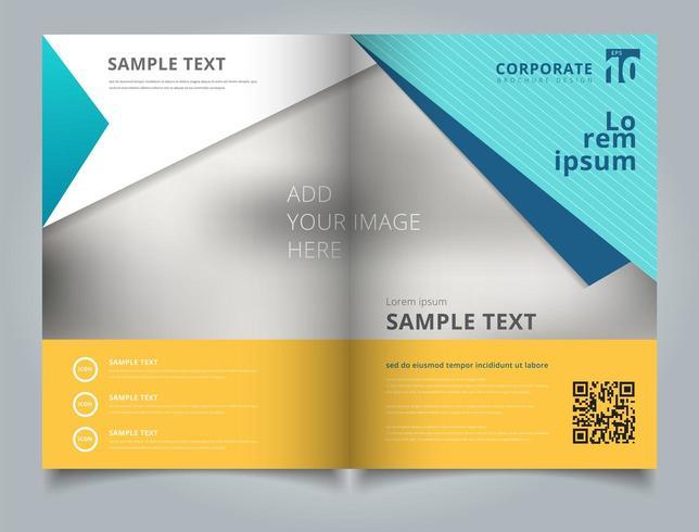 Sjabloon zakelijke brochure lay-outontwerp vector