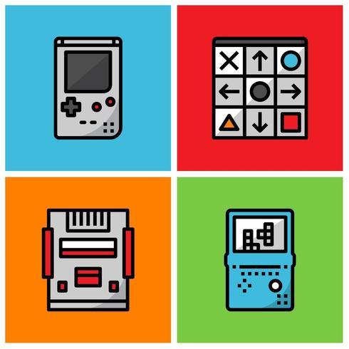 Retro game speler vector