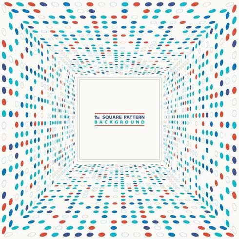 Abstracte kleurrijke terugwijkende cirkel halftone kubus achtergrond vector