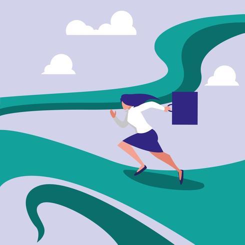 zakenvrouw in race avatar karakter vector