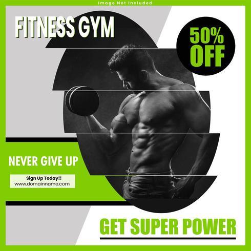 Fitness Gym sociale media postontwerp vector
