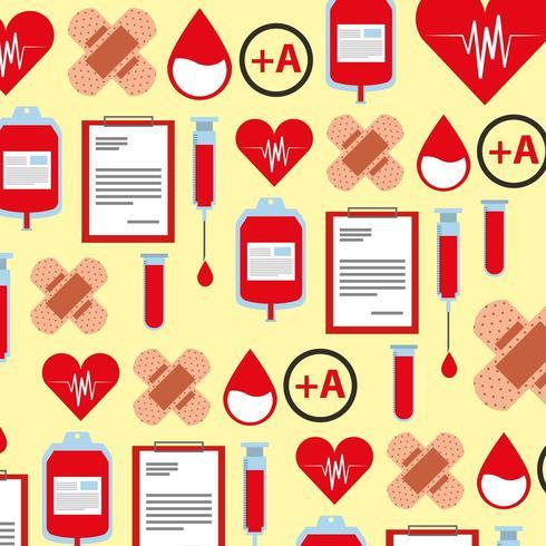 medisch gezondheidszorgpatroon vector