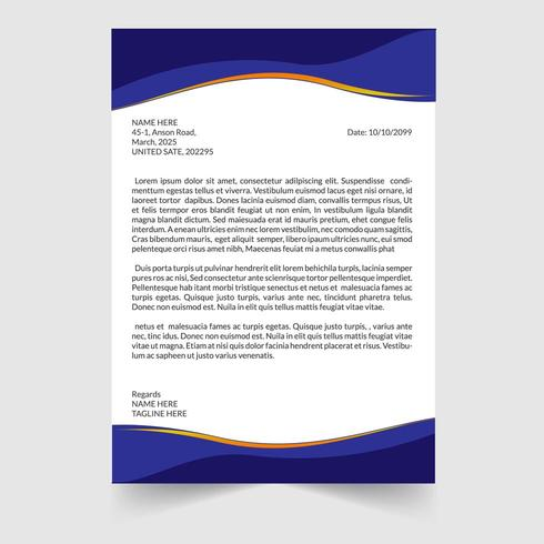 Modern Zakelijk Briefpapier Template vector