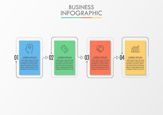 Presentatie zakelijke infographic sjabloon vector