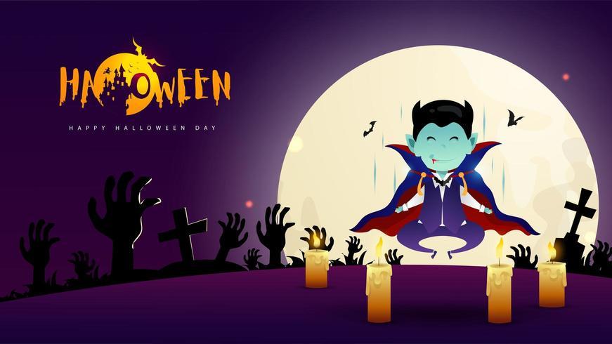 Dracula Halloween-dag vector