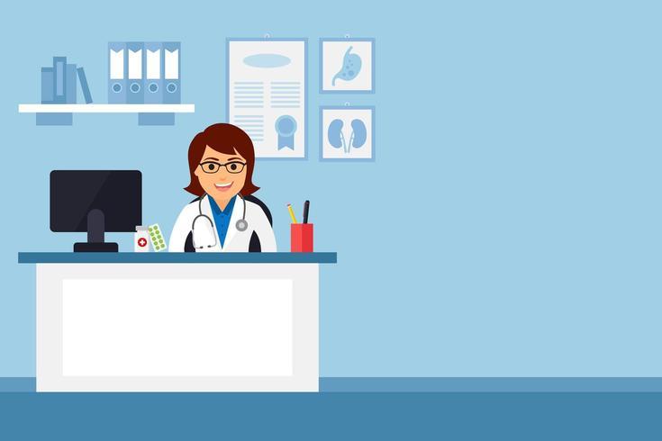Arts in medische kantoor vector
