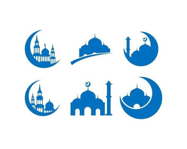 Ramadhan Kareem icon set vector