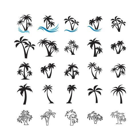 Palmboom collectie set vector