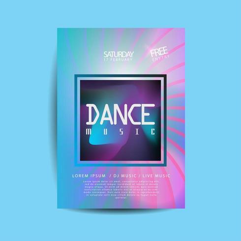 elektronische dansmuziekflyer vector
