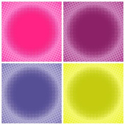 Komische veelkleurige halftone achtergrond vector