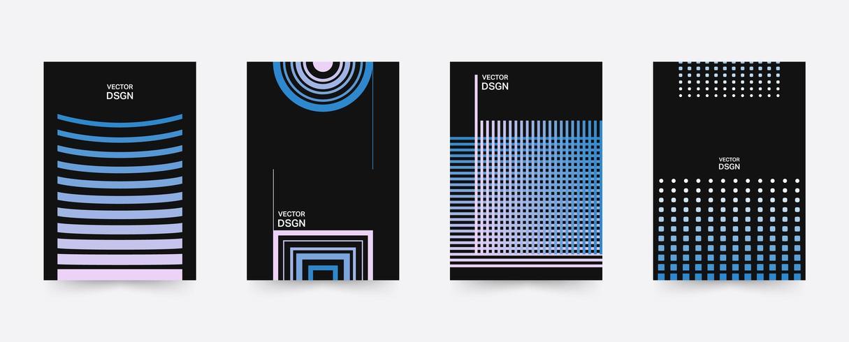Geometrische poster sjabloon set vector