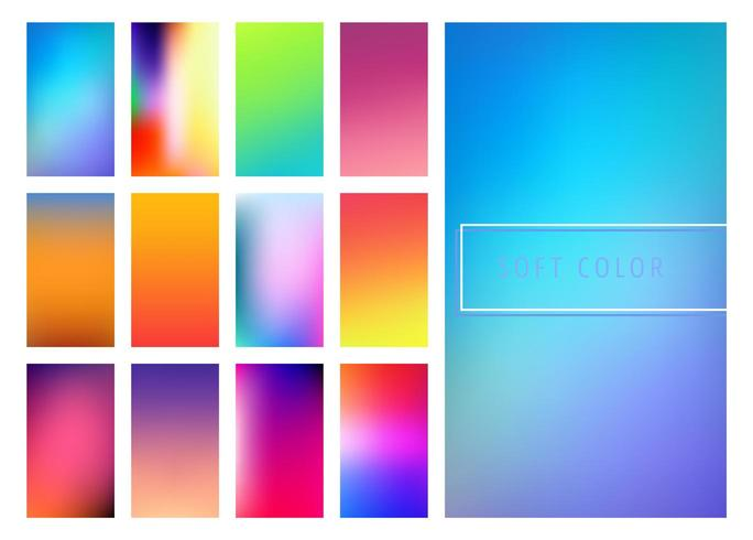 Multicolor zachte verlopen achtergrond vector