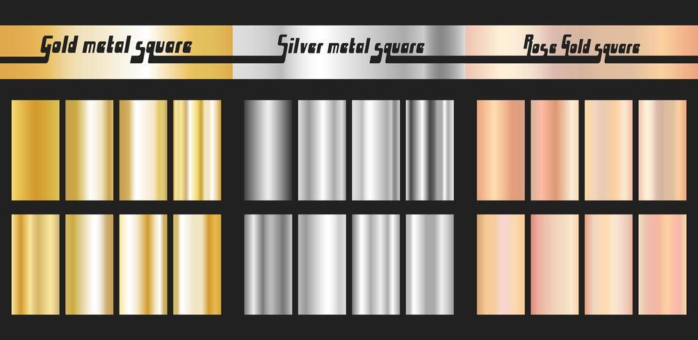 Goud zilver en rose goud kleurverloop vector