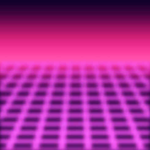 Retro perspectief raster achtergrond vector