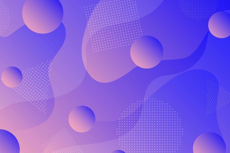 Kleurrijke retro abstracte geometrische vormachtergrond vector