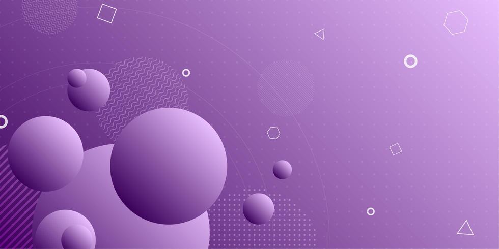 De heldere achtergrond van de gradiënt abstracte retro vorm vector