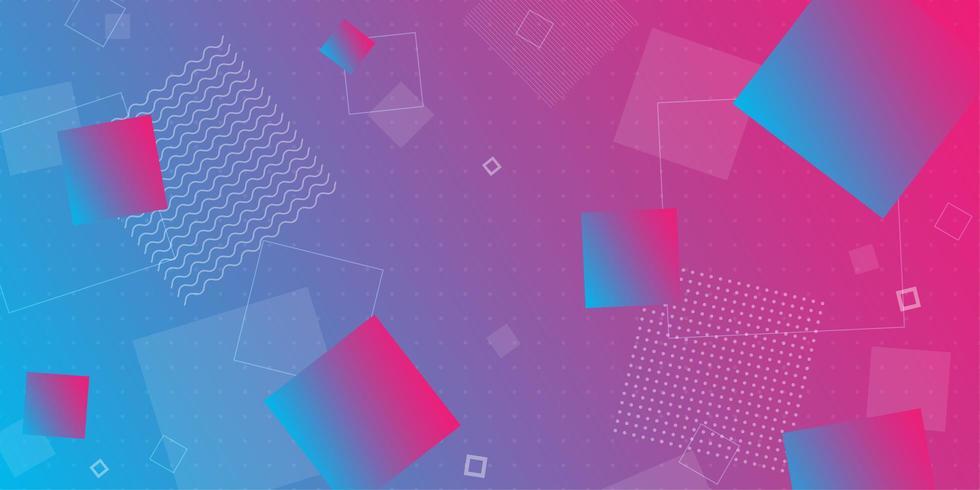 Kleurrijke retro overlappende geometrische vormen vector