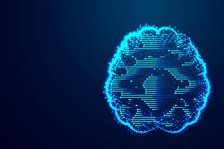 Digital Brain-technologie vector
