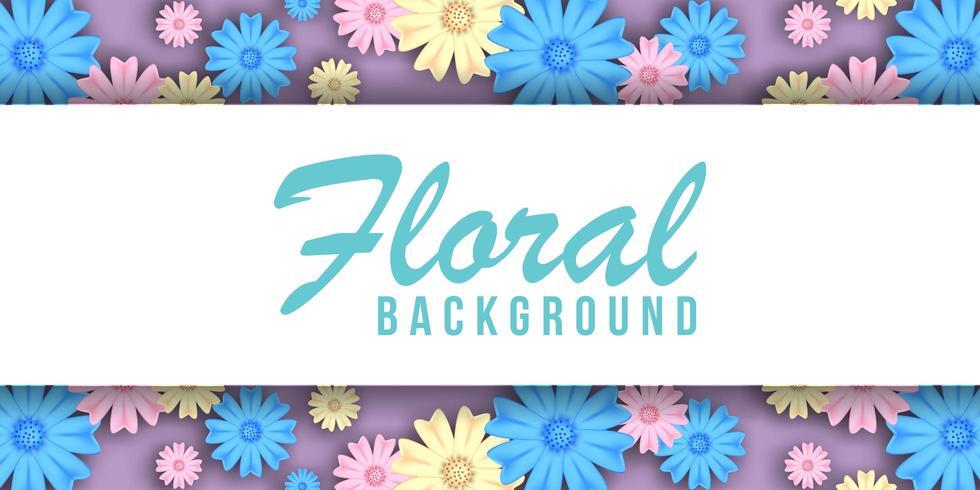 Pastel Bloemen Achtergrondbanner vector