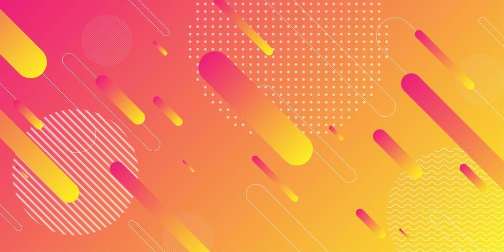 Helder oranje en gele retro geometrische vorm achtergrond vector