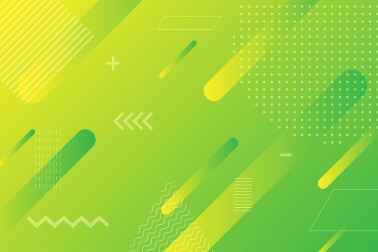 Neon geel groen gradiënt geometrische vormen vector