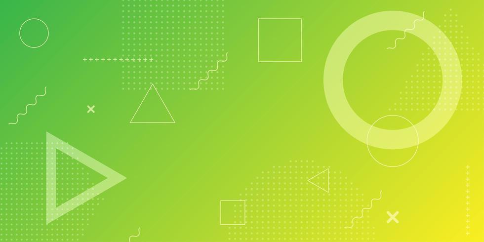 Neoncirkel en driehoeks abstracte achtergrond vector